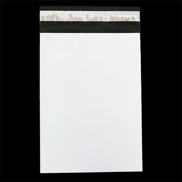画像1: 宅配ビニール袋 B5サイズ 白 190x260+50mm #60 (1)