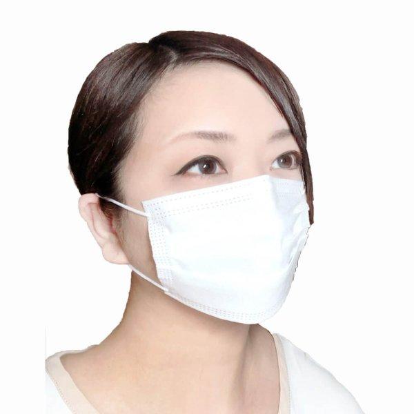 画像1: 3層不織布マスク 小さめマスク【個別包装】販促マスク 白【1,000枚入】 (1)