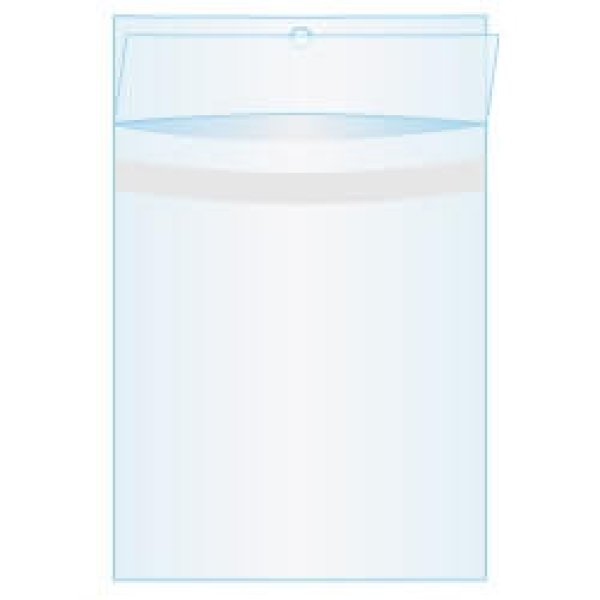 画像1: ヘッダー付CPP(シーピーピー)袋 #50 225x238+30+40(mm) 白ヘッダー 上入れタイプ ひこうき穴 フタ側密着テープ [1,000枚 (単価16.39)] (1)
